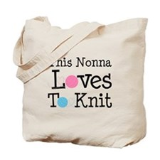 Nonna Loves To Knit Tote Bag