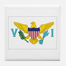 USVI Flag Tile Coaster