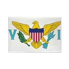 USVI Flag Rectangle Magnet