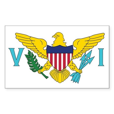 USVI Flag Sticker (Rectangle)