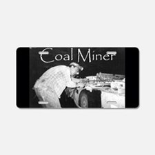 Coal Miner Aluminum License Plate