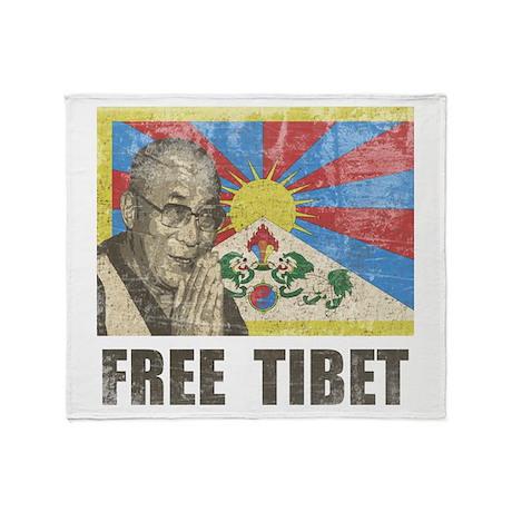 Dalai Lama Free Tibet Throw Blanket