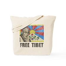 Dalai Lama Free Tibet Tote Bag