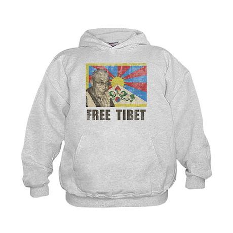 Dalai Lama Free Tibet Kids Hoodie