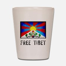 Free Tibet Shot Glass