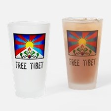 Free Tibet Drinking Glass