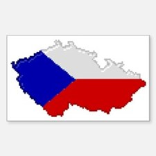 """Pixel Czech Republic"" Rectangle Decal"