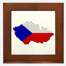 """Pixel Czech Republic"" Framed Tile"
