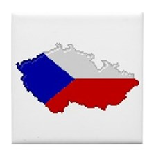 """Pixel Czech Republic"" Tile Coaster"