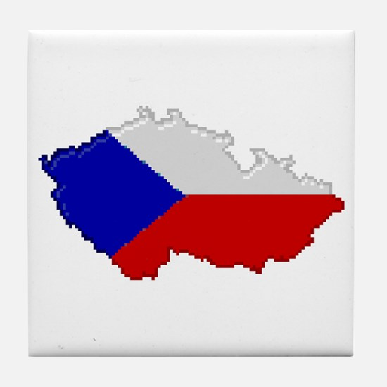 """Pixel Czech Republic"" Tile Coaster"