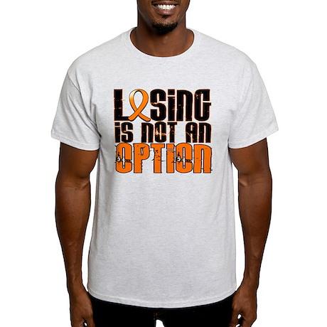 Losing Is Not An Option Leukemia Light T-Shirt