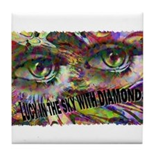 lucy in the sky with diamonds Tile Coaster