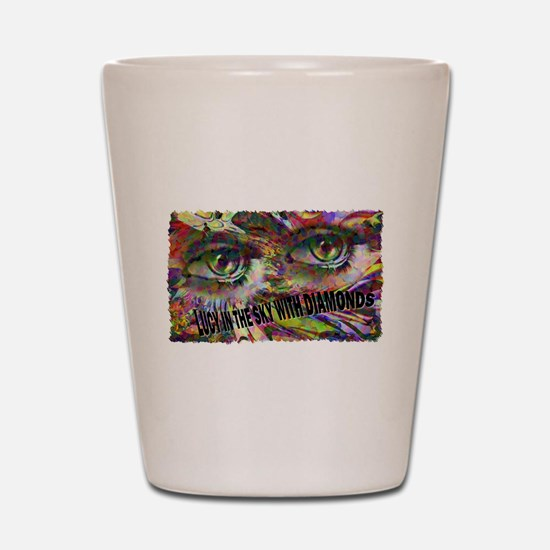 lucy in the sky with diamonds Shot Glass