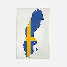 """""""Pixel Sweden"""" Rectangle Magnet"""