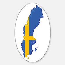 """""""Pixel Sweden"""" Oval Decal"""