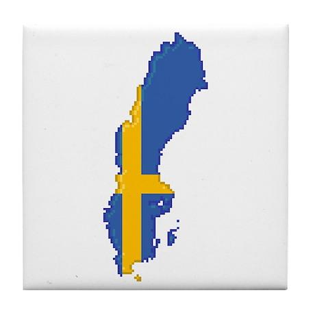 """""""Pixel Sweden"""" Tile Coaster"""