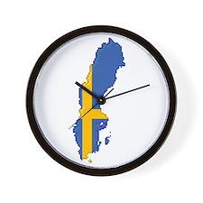 """Pixel Sweden"" Wall Clock"