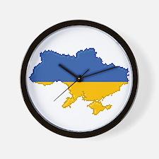 """""""Pixel Ukraine"""" Wall Clock"""