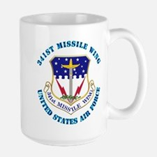 341st Missile Wing with Text Mug