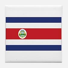 Costa Rica Flag Tile Coaster