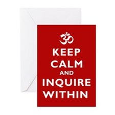 Keep Calm and Inquire Within Greeting Cards (Pk of