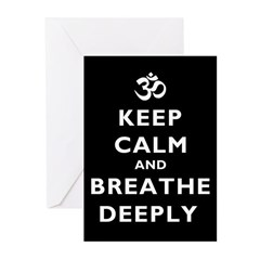 Keep Calm And Breathe Deeply Greeting Cards (Pk of