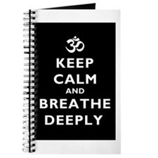 Keep Calm And Breathe Deeply Journal
