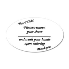 Heart Child 22X14 Oval Wall Peel