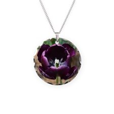Purple Tulip Necklace