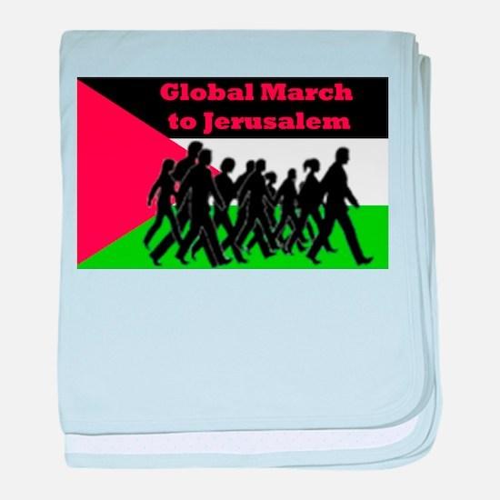 Global March to Jerusalem baby blanket