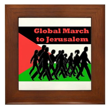 Global March to Jerusalem Framed Tile