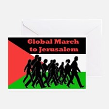 Global March to Jerusalem Greeting Cards (Pk of 10