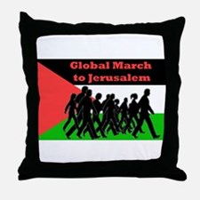 Global March to Jerusalem Throw Pillow