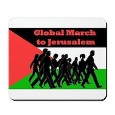 Global March to Jerusalem Mousepad