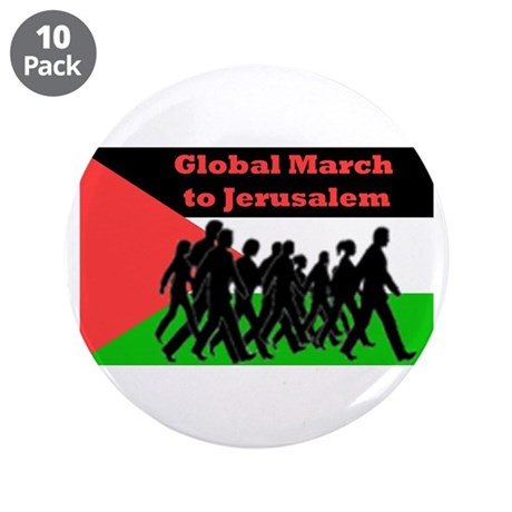 "Global March to Jerusalem 3.5"" Button (10 pack)"