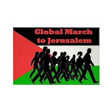 Global March to Jerusalem Rectangle Magnet