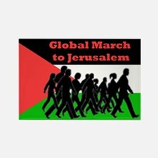 Global March to Jerusalem Rectangle Magnet