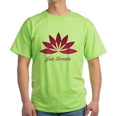Lotus Just Breathe Green T-Shirt