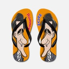 Mitt Romney Cartoon Flip Flops