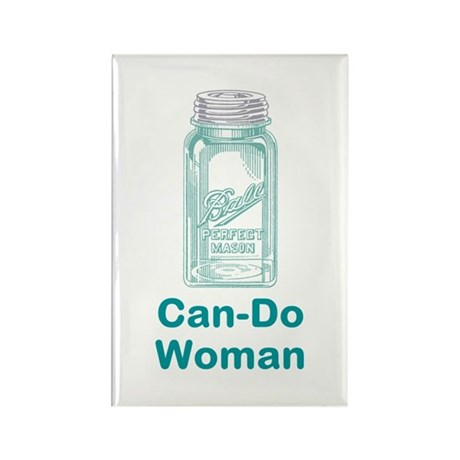 Can-Do Woman Rectangle Magnet