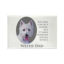 Westie Dad Rectangle Magnet