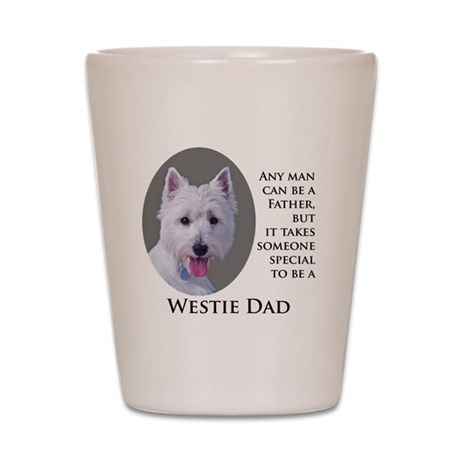 Westie Dad Shot Glass