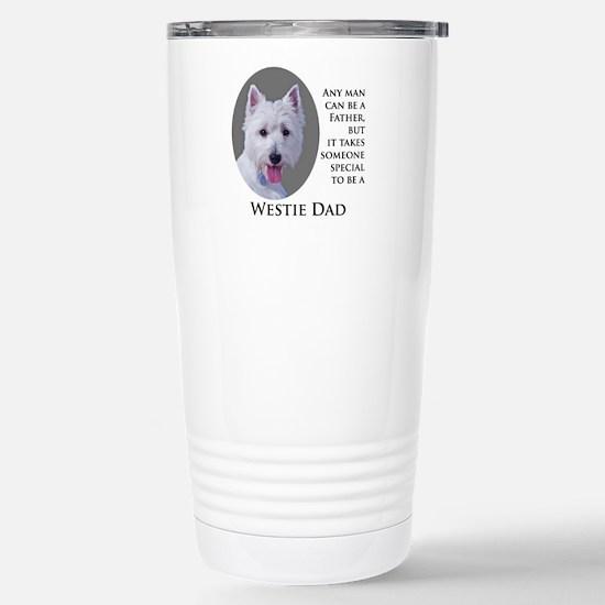 Westie Dad Stainless Steel Travel Mug