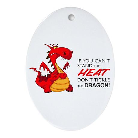 Tickle Dragon Ornament (Oval)
