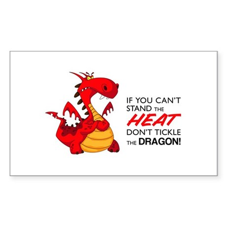 Tickle Dragon Sticker (Rectangle)