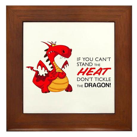 Tickle Dragon Framed Tile