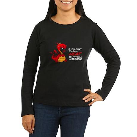 Tickle Dragon Women's Long Sleeve Dark T-Shirt
