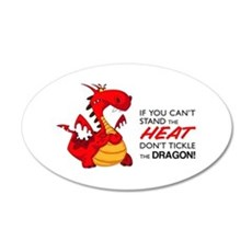 Tickle Dragon 22x14 Oval Wall Peel