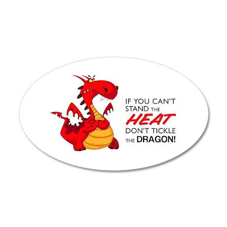 Tickle Dragon 22x14 Oval Wall Peel