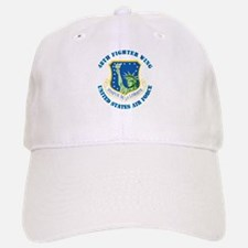 48th Fighter Wing with Text Baseball Baseball Cap